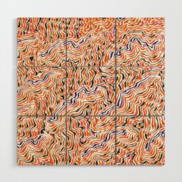 red topography Wood Wall Art