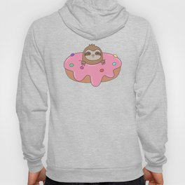 Kawaii Cute Sloth Donut Hoody