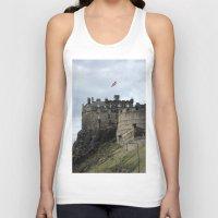 edinburgh Tank Tops featuring Edinburgh Castle by RMK Creative