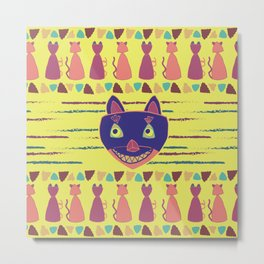 Madcat Excited Metal Print