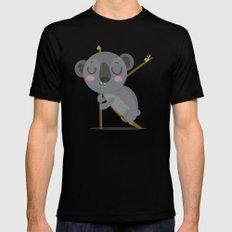 K is for Koala MEDIUM Black Mens Fitted Tee