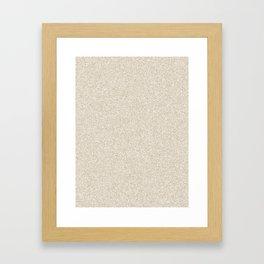 Melange - White and Khaki Brown Framed Art Print