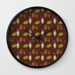 Cacao Pods - Chocolate Wall Clock