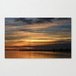Sunrise Over Lighthouse Canvas Print