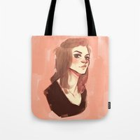 allison argent Tote Bags featuring argent by shauna ok