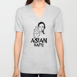 Stop Asian Hate Anti-Asian Support AAPI Stop Crime Unisex V-Neck