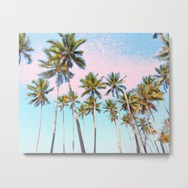 Coconut Palms #society6 #decor #buyart Metal Print