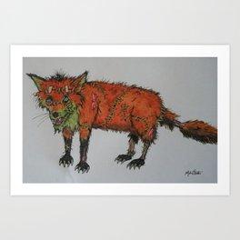 franken fox Art Print