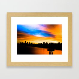 Cleveland Sunrise At Edgewater Park With Pier Framed Art Print
