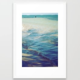 Fisherman in the distance, Mauritius II Framed Art Print