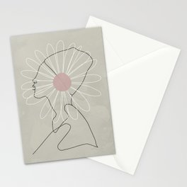 Abstract Daisy Flower Girl Stationery Cards