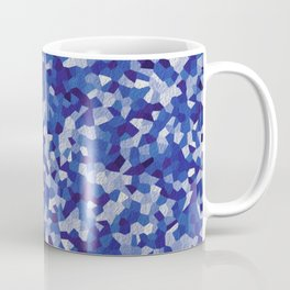 blue irregular shape pattern Coffee Mug
