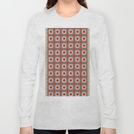 V12 Red Traditional Moroccan Rug Pattern. Long Sleeve T-shirt