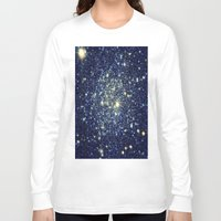 galaxy Long Sleeve T-shirts featuring galaxY Stars : Midnight Blue & Gold by 2sweet4words Designs