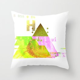 GLITCH NATURE #98: Seeding sunflower Throw Pillow