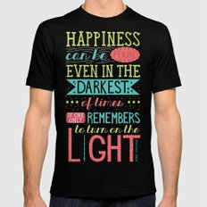 Happiness Black MEDIUM Mens Fitted Tee