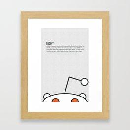 Tribute to Reddit Framed Art Print