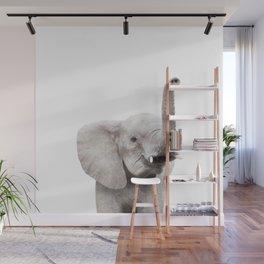 Baby Elephant Portrait Wall Mural