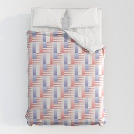Mix of flag : usa and France 2 with color gradient Comforters