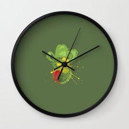 Grunge cat cowboy Wall Clock