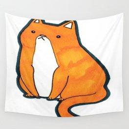 Orange Cat Wall Tapestry