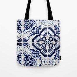 Azulejo VI - Portuguese hand painted tiles Tote Bag