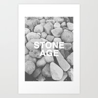 queens of the stone age Art Prints featuring Stone Age by Concept Phi