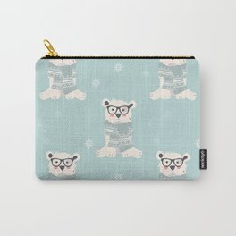 Polar bear pattern 001 Carry-All Pouch