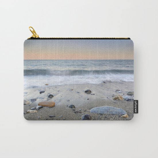 """Mediterranean waves at sunset"". Pink sunset Carry-All Pouch"