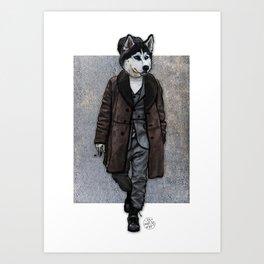 Husky Hipster, Dapper Doge Art Print