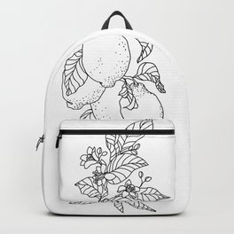 Citrus Branch of Lemons and Slices of Fruit Backpack