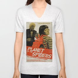 """Doctor Who """"Planet of the Spiders"""" Retro Movie Poster Unisex V-Neck"""