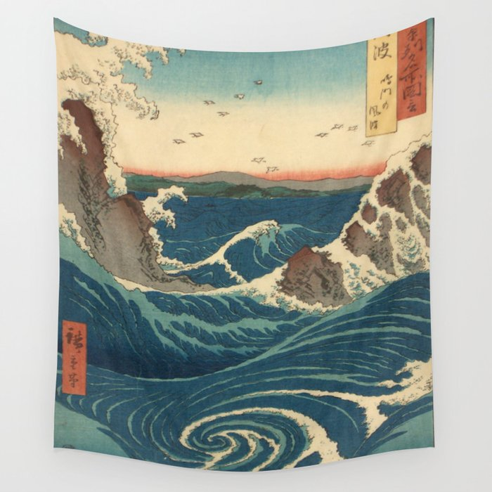 Vintage poster - Japanese Wave Wall Tapestry