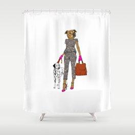 Lady Staffy Shower Curtain
