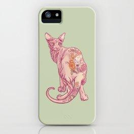 Skinny Cat iPhone Case