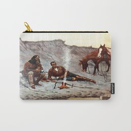 Cowboy Work Hard To Play Hard Carry-All Pouch