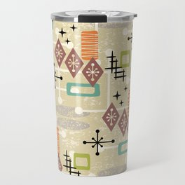 Retro Mid Century Modern Atomic Abstract Pattern 241 Travel Mug