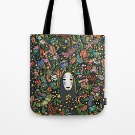 Kaonashi no-face christmas Tote Bag