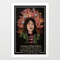 Joyce Stranger Things Art Print