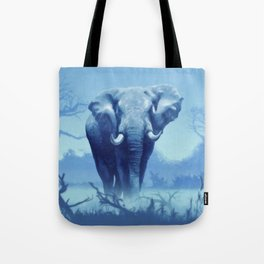Misty Morning in the Tsavo Tote Bag
