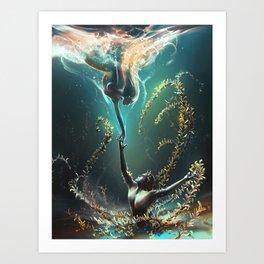 Underwater ballet Art Print