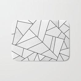 White Stone / Black Lines Bath Mat