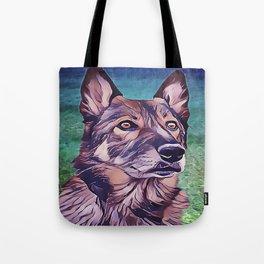 American Alsatian - Wolf Hybrid Tote Bag