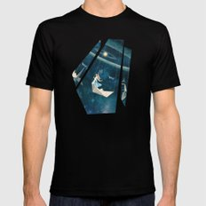 My Favourite Swing Ride Mens Fitted Tee SMALL Black