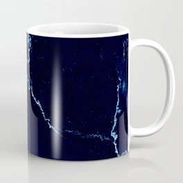 Night Blue Marble Coffee Mug