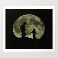 walk the moon Art Prints featuring Moon walk II by Peaky40