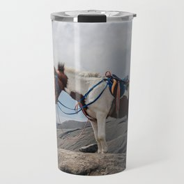 The Horse and the Volcano Travel Mug