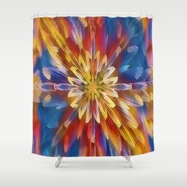 Color Flow Abstract Shower Curtain