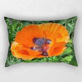Wild Red Poppy Rectangular Pillow