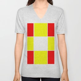 Team Colors 3....yellow ,red Unisex V-Neck